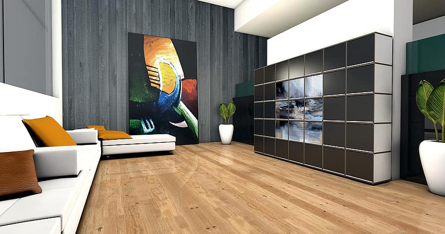 live gube system living room apartment graphic rendering architecture 3d visualization