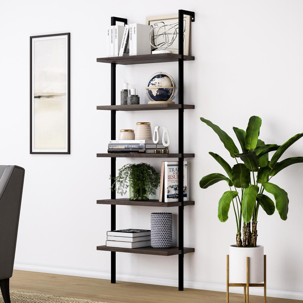 living room open shelving