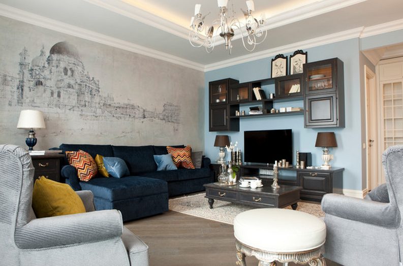 living room painting design