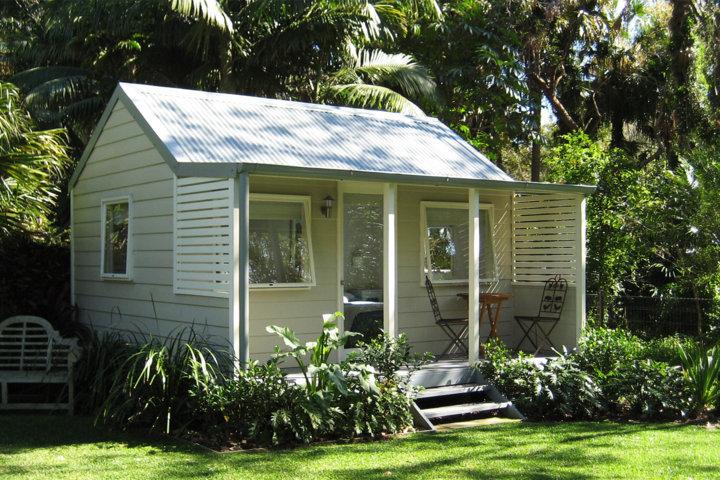 minimalist backyard cabin