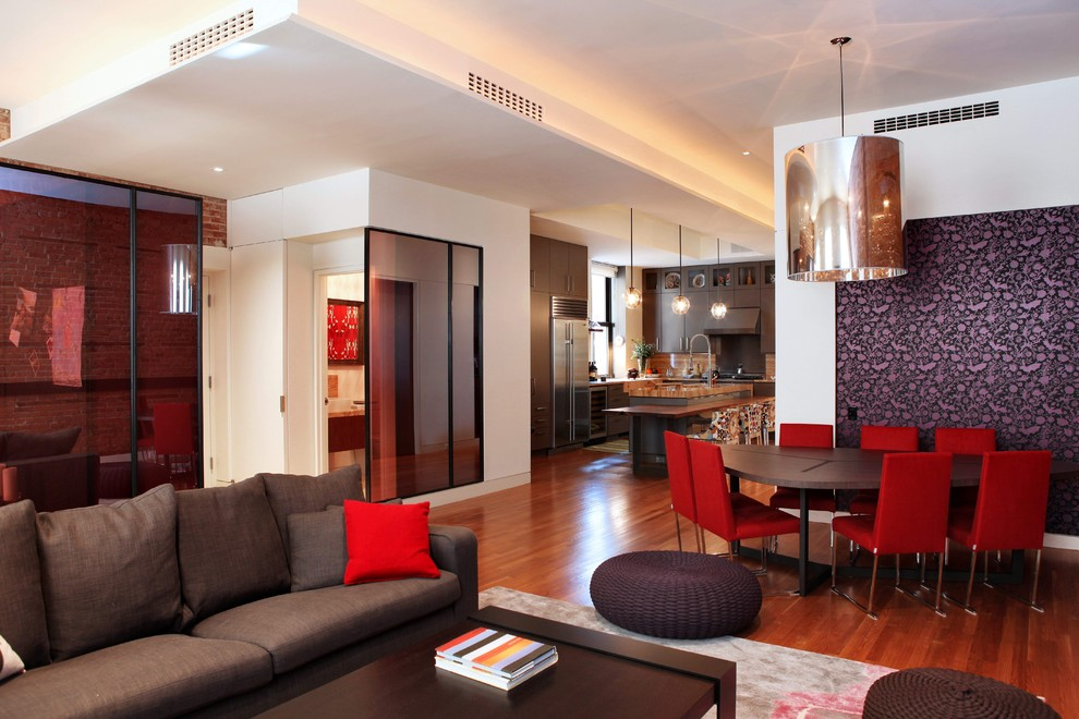 Tiny House Interior modern house brown color red combination