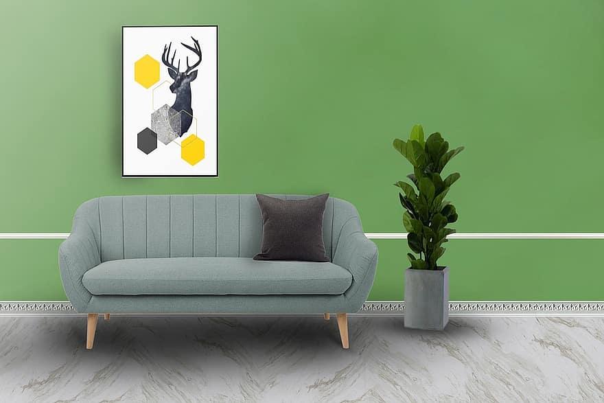 sofa chair pillow painting design form apartment decorative indoors