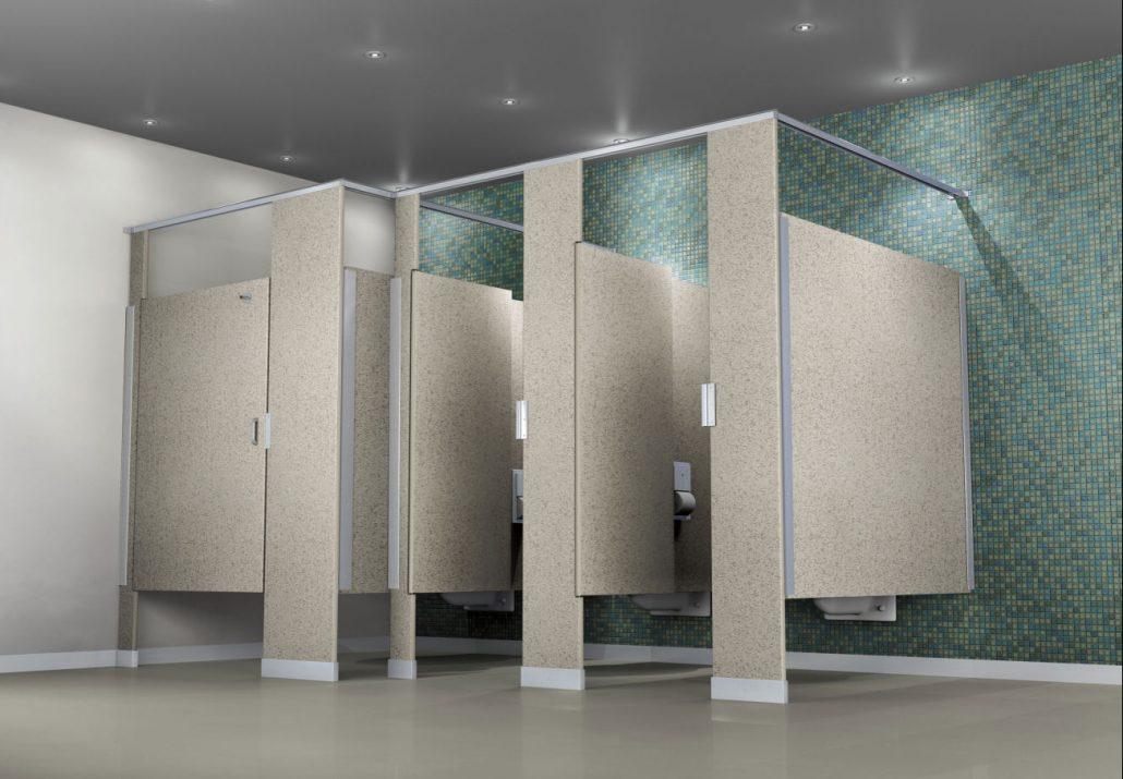 solid plastic bathroom partition