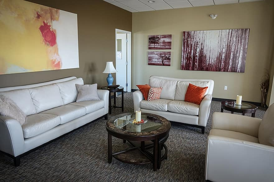 waiting room couch painting waiting room interior sofa indoor modern