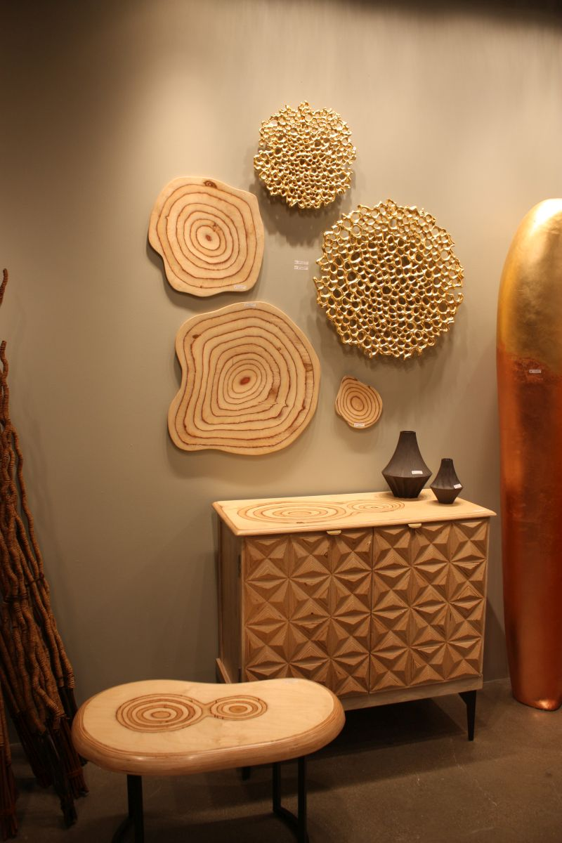Futuristic Interior Design wood crafting wall decor