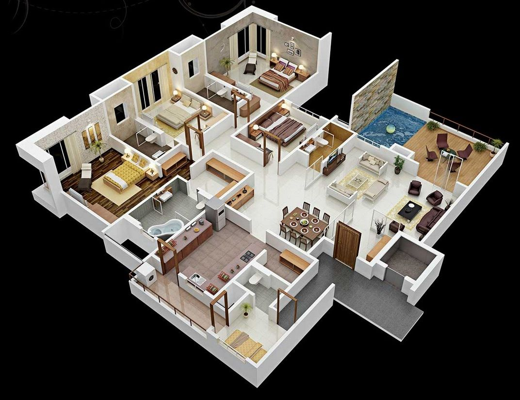 4 bedroom apartment or house
