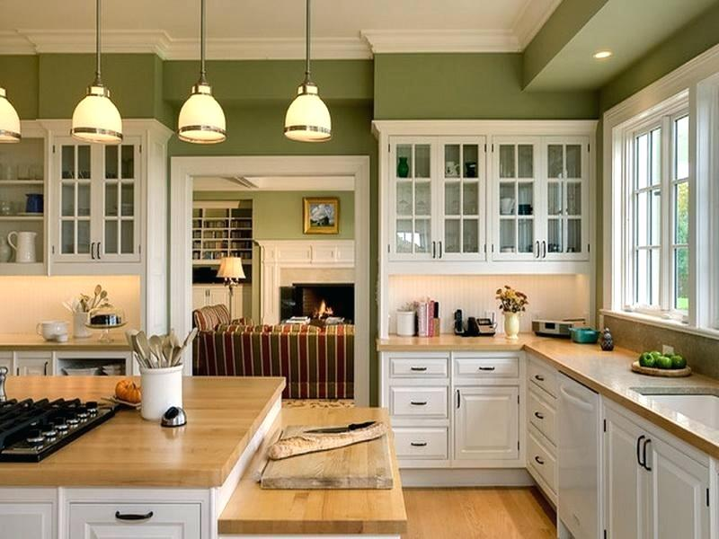 green wall vintage kitchen design ideas