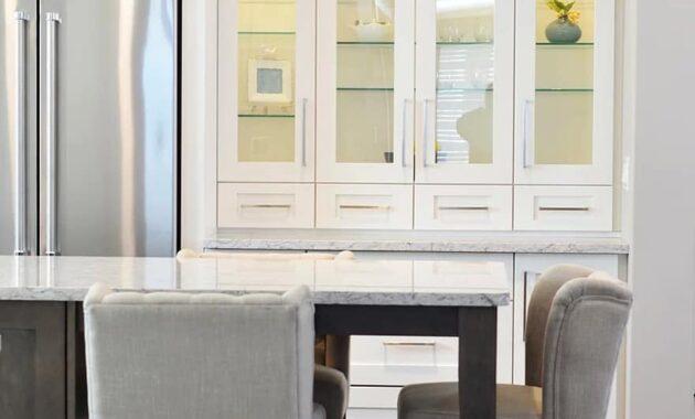 kitchen cabinet counter chair refrigerator fridge interior home kitchen cabinets