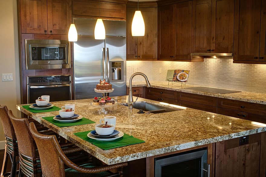 kitchen home luxury home interior kitchen cabinets island stainless interior design 1