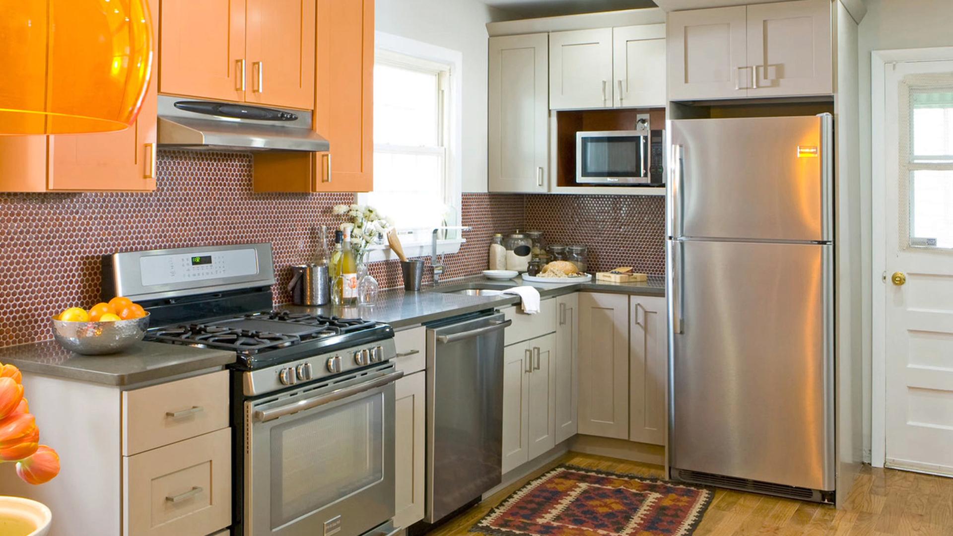kitchen ideas yellow and elegant