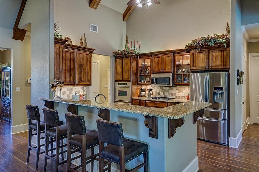 kitchen interior kitchen house home interior design wood floor counter 1