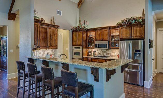 kitchen interior kitchen house home interior design wood floor counter