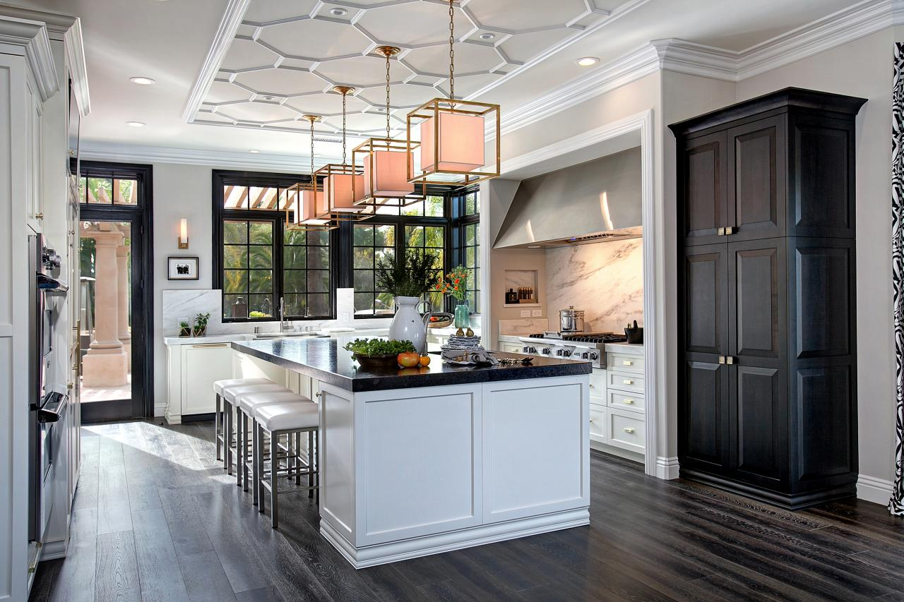 modern classic black and white pallette kitchen