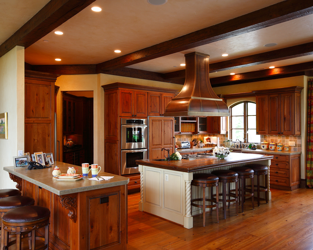 natural wood classic rustic kitchen