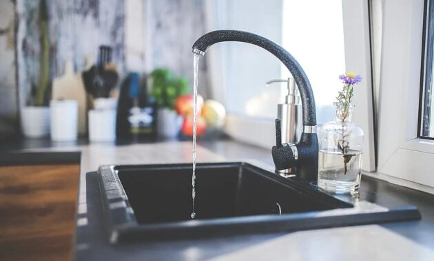 tap black faucet kitchen sink interior design modern water