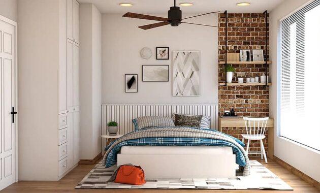 bedroom mattress bag chair desk plant