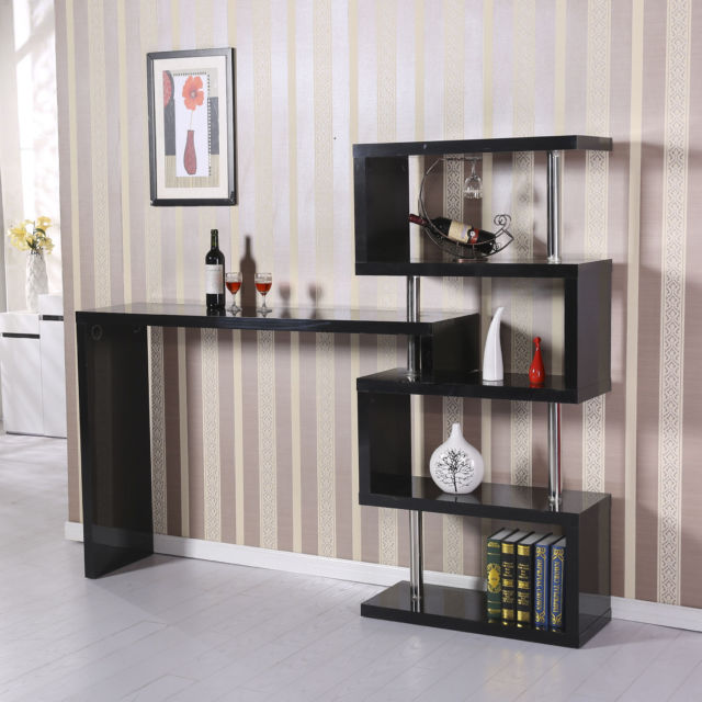 bookcase bar and rack