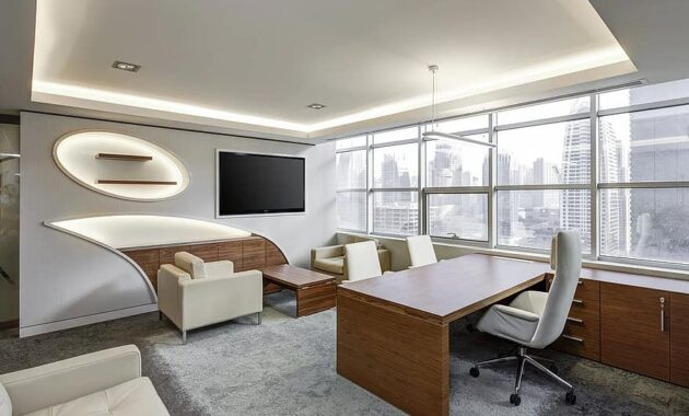office sitting room executive sitting business desk workplace corporate working