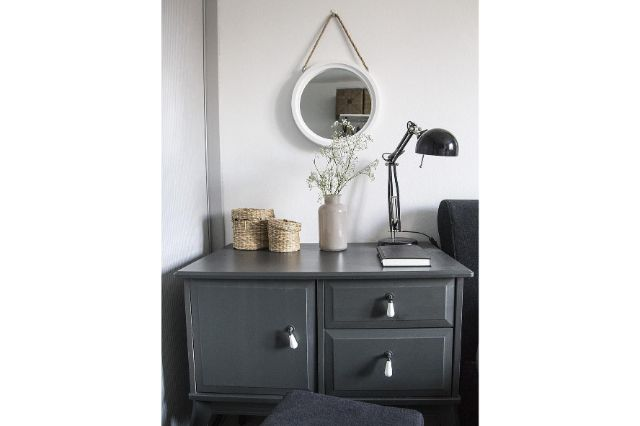 home room bedroom vase bed interior furniture modern house