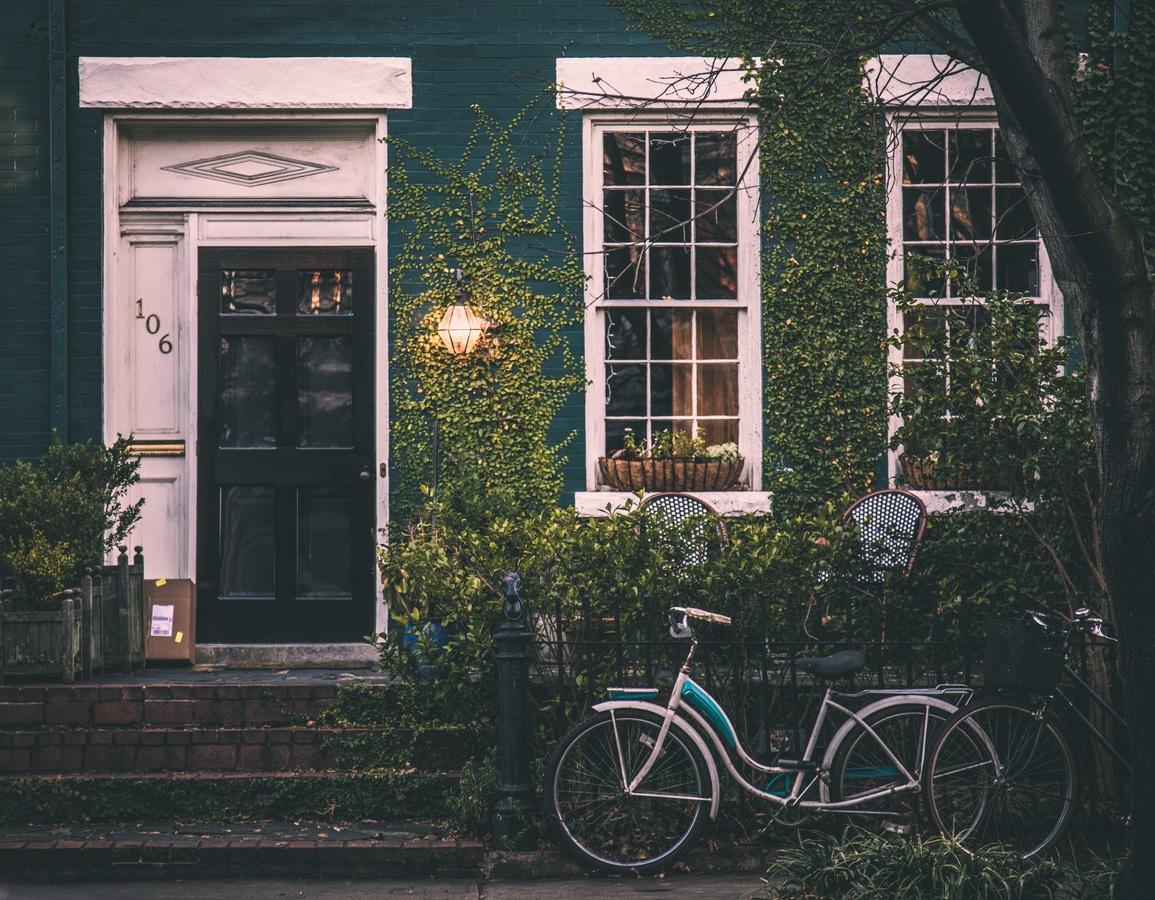 house window bike home suburb vehicle