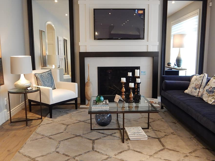 living room table chair fireplace room interior home house decor