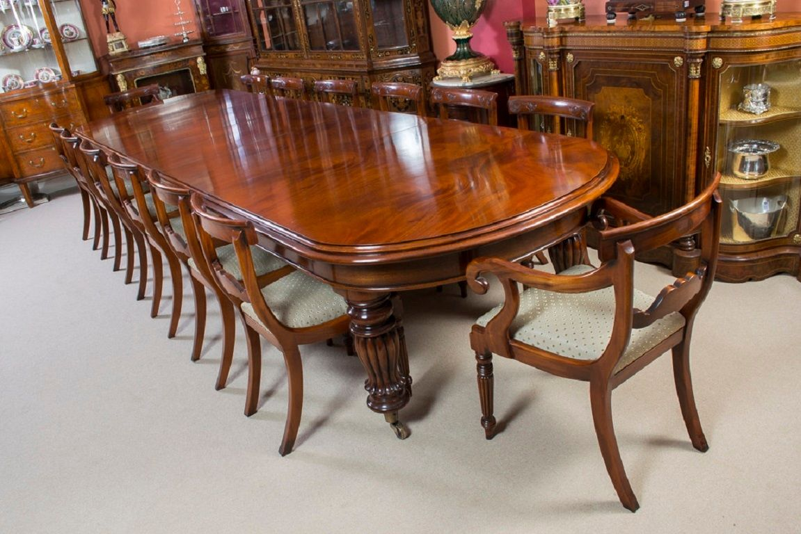 mahogany dining table set