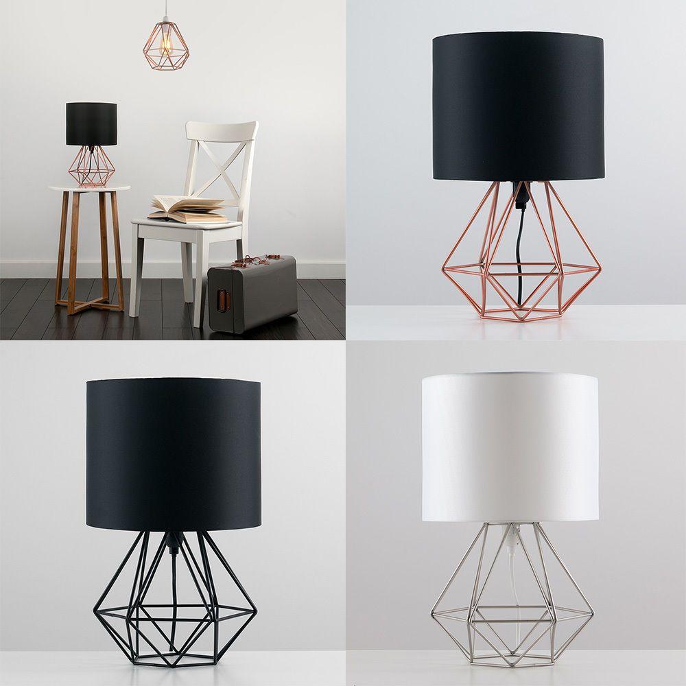 metal retro geometric table lamp
