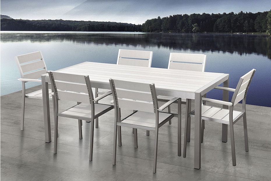 metal wooden materials dining table and chairs sets