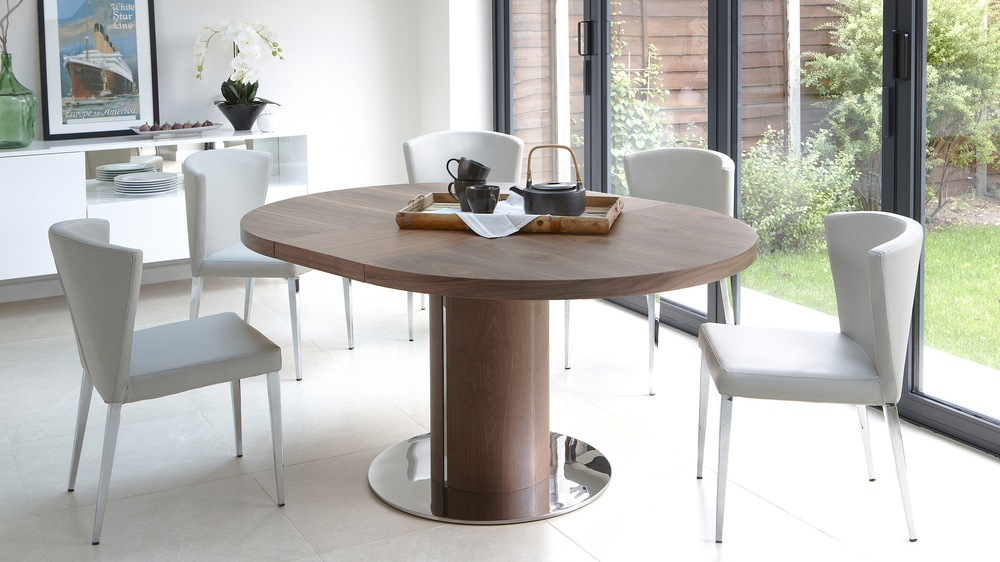 minimalist modern round table set