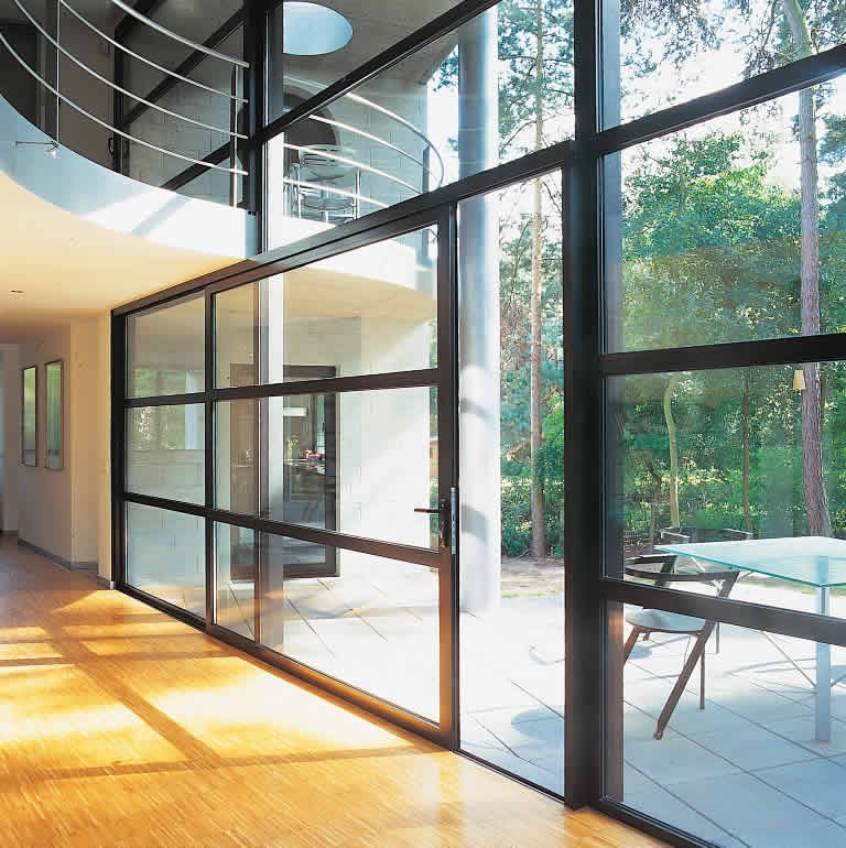 modern design of sliding doors
