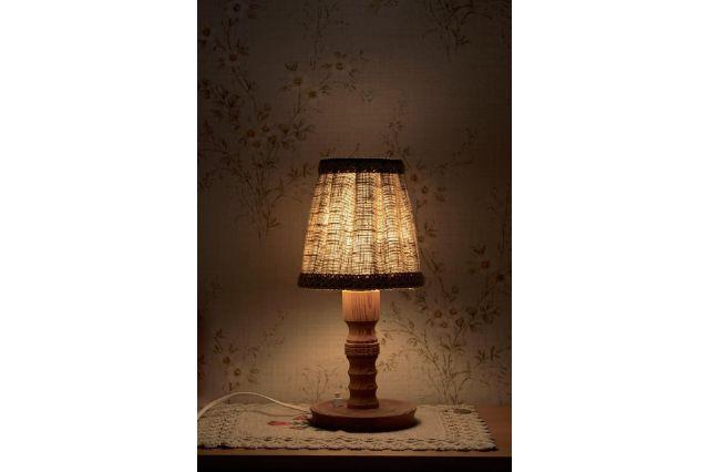 night table lamp light bedside table shining lighting electric light rays warm white light bulb