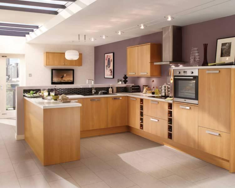 oak kitchen cabinet package