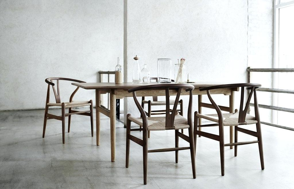 simple wooden rectangular table sets
