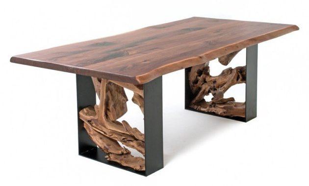 steel and wood table ideas