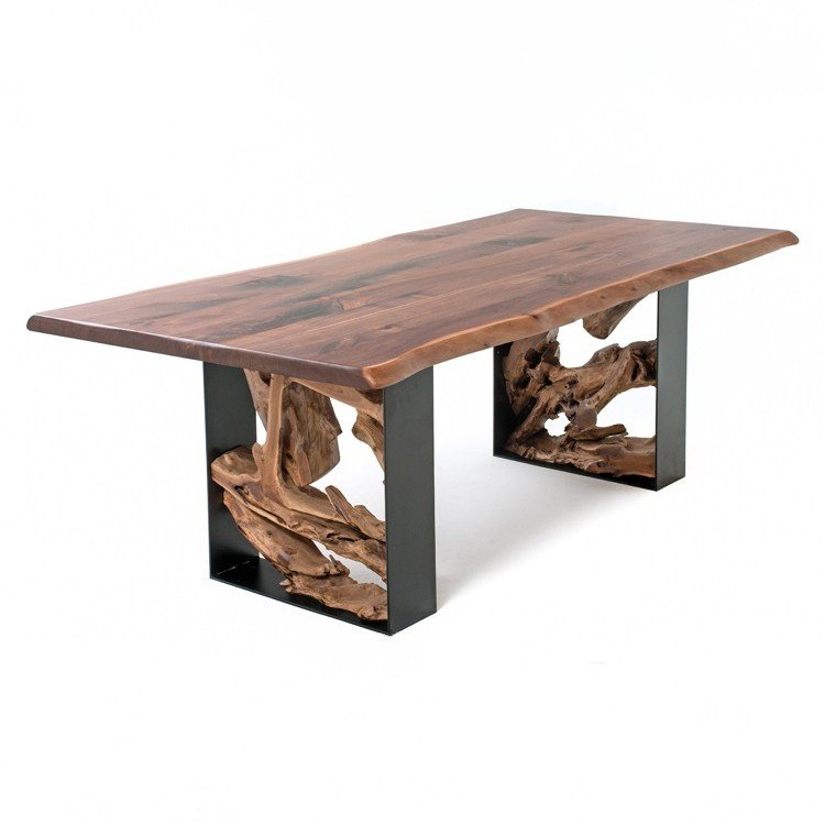 steel and wood table ideas