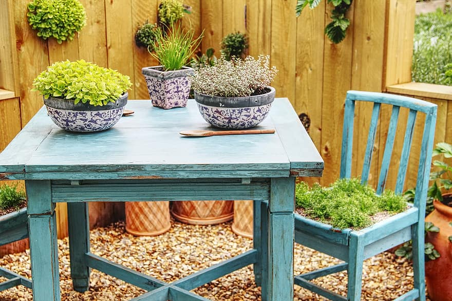 table chair garden seat wood furniture yard