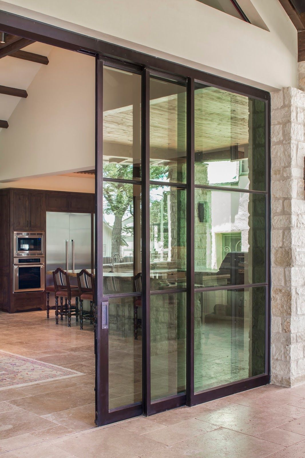 triple sliding doors ideas