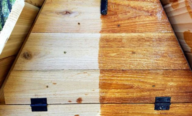 tung oil on wooden furniture