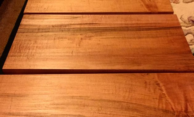 wooden table with tung oil