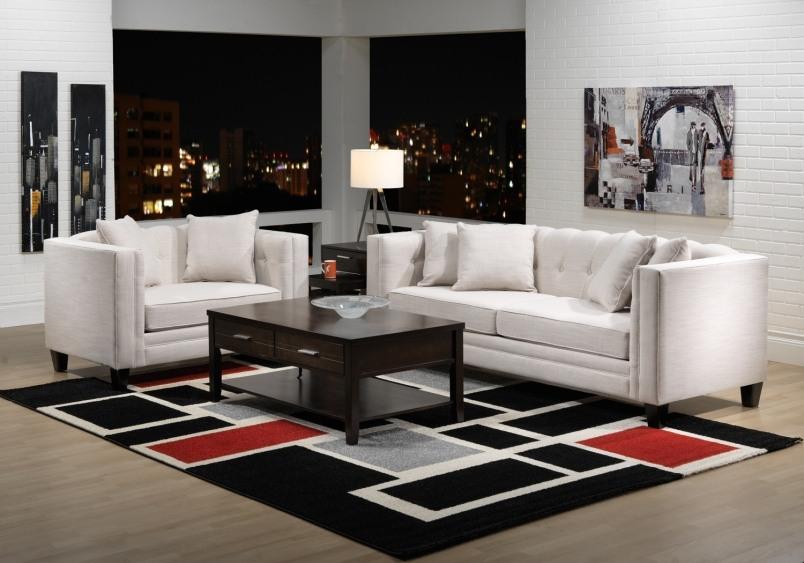 minimalist living room area