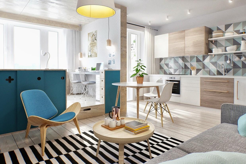 modern minimalist room area