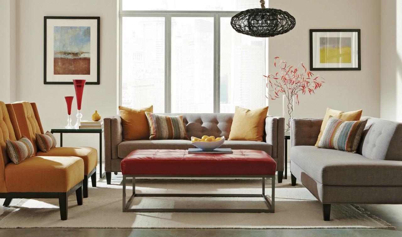 neat living room