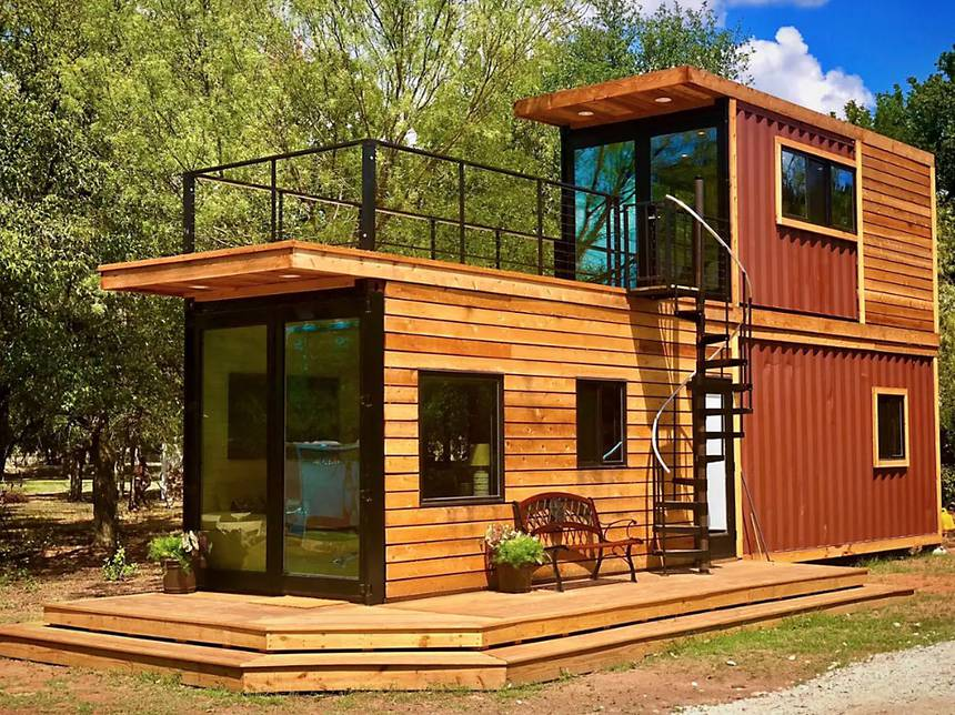 two story container house design