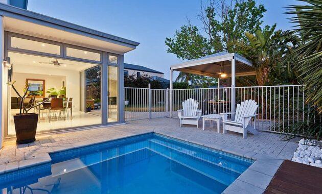 alfresco dining entertaining lifestyle kitchen living pool water luxury