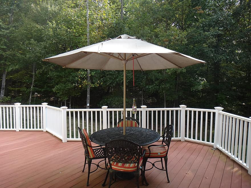 deck furniture exterior house porch outdoor patio