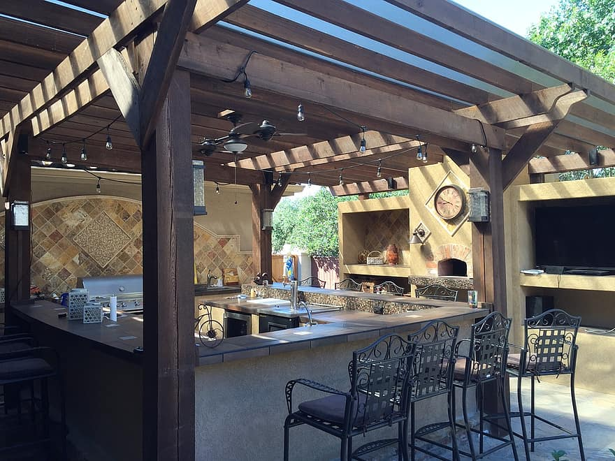patio cover outdoor kitchen tile copper patio stone design outdoor kitchen