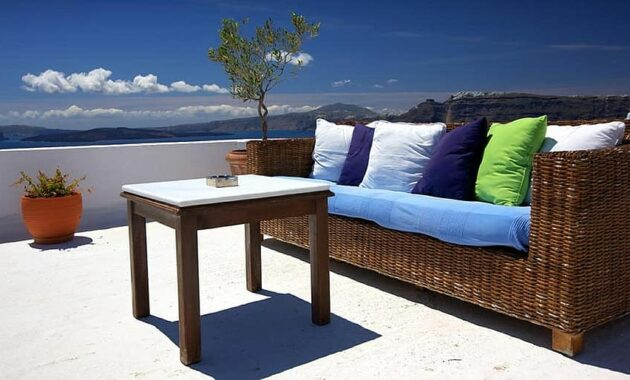 patio furniture couch terrace outdoors