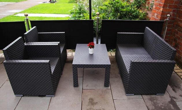 patio seating chairs seat empty furniture design nobody armchair