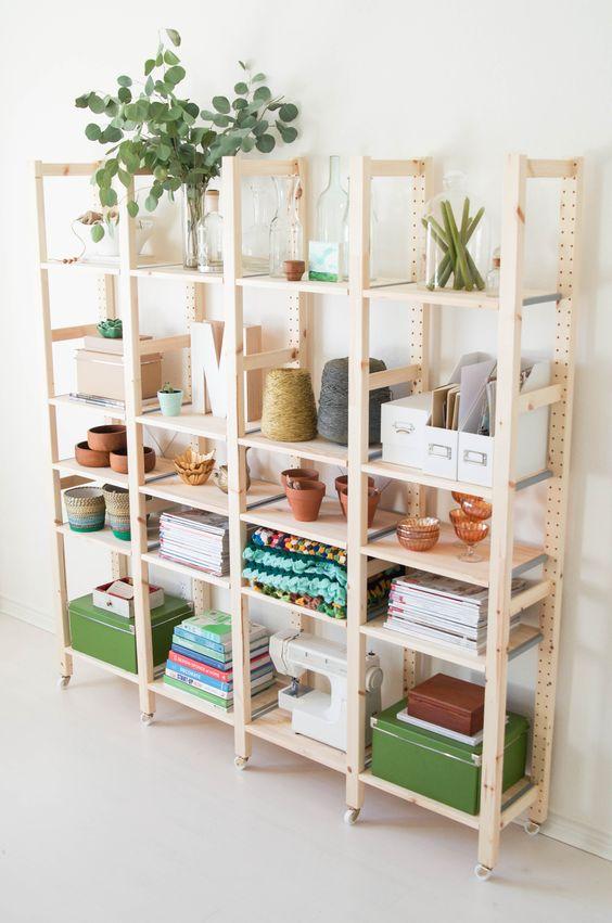 a frame of plastic bookshelf