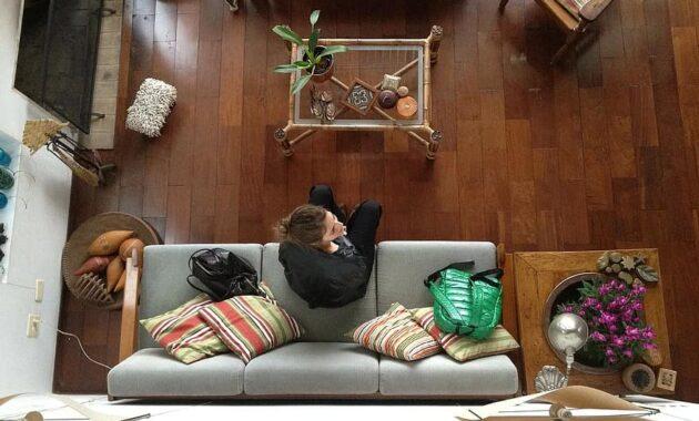 girl room woman living room sofa furniture house on top sitting